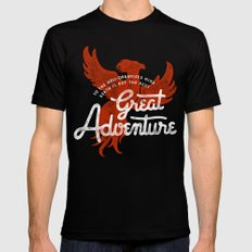 Great Adventure LARGE Black Mens Fitted Tee
