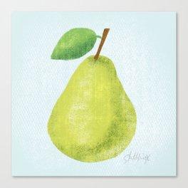 Textured Pear Canvas Print