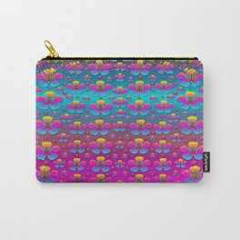 Freedom Peace Flowers Raining In Rainbows Carry-All Pouch