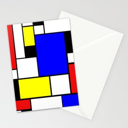 Mondrian Style Stationery Cards