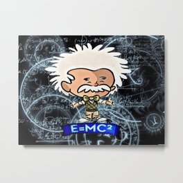 Tiny Einstein Metal Print