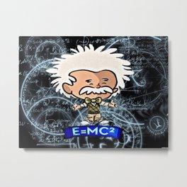 Tiny Einstein Metal Print