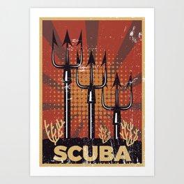 Scuba Diving Propaganda Art Print