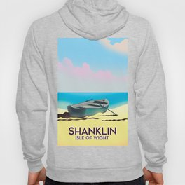 Shanklin, Isle of Wight travel poster. Hoody