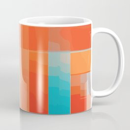 Orange Turquoise Summer Abstract Design Coffee Mug
