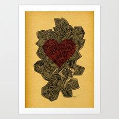 - heart line - Art Print