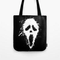 scream Tote Bags featuring Scream by DanielBergerDesign