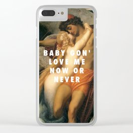 Frederic Leighton, The Fisherman and the Syren (c.1857) / Halsey, Now Or Never (2017) Clear iPhone Case