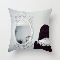 mirror Throw Pillows featuring Mirror by Bella Harris