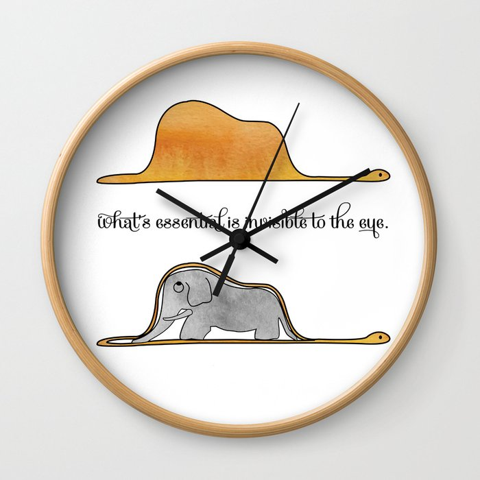The Little Prince, a hat or an elephant? Wall Clock