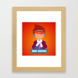 "Mikel AlfsToys say: ""Merry Christmas""  Framed Art Print"