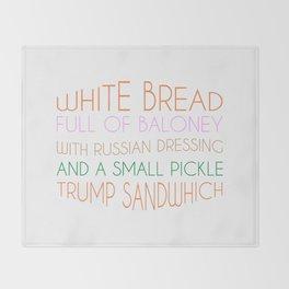 Trump Sandwhich Throw Blanket