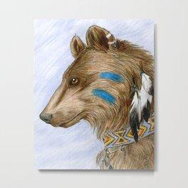 Medicine Bear Metal Print