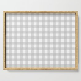 Light grey gingham pattern Serving Tray