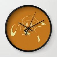 shiba Wall Clocks featuring Shiba Inu by Reimena Ashel Yee