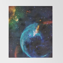 Blue Bubble Throw Blanket