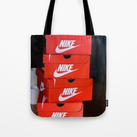 nike Tote Bags featuring Nike by I Love Decor