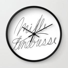 mille tendresse Wall Clock