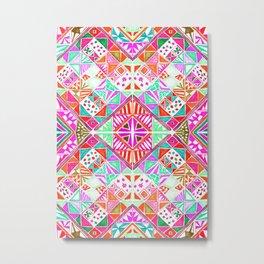 Mosaic Pinks Metal Print