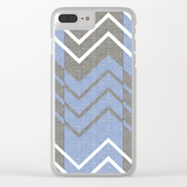 Chambray Chevron Clear iPhone Case