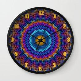 Guilloché Spirograph Tribal Motif  Wall Clock