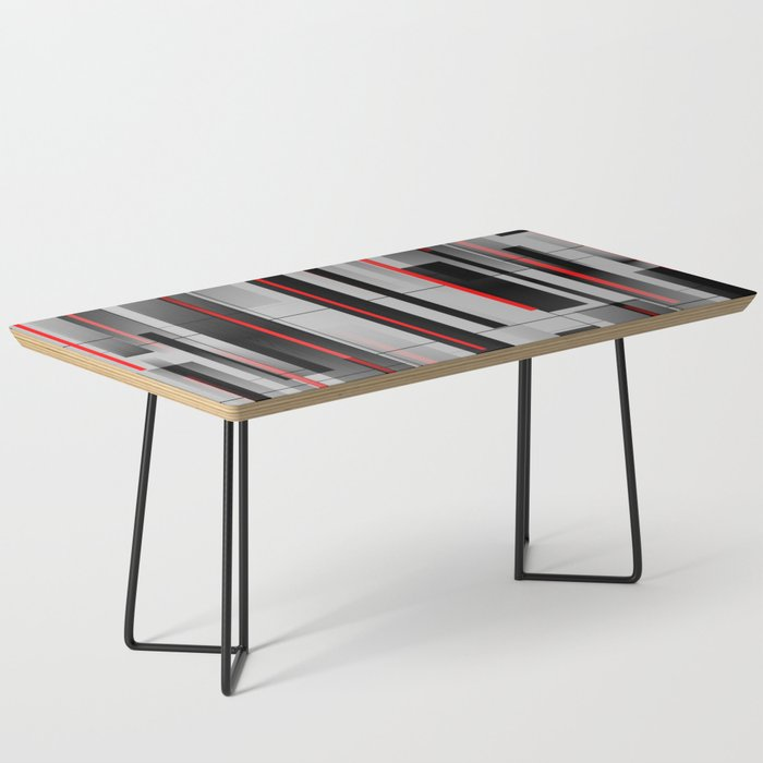 Off the Grid - Abstract - Gray, Black, Red Coffee Table