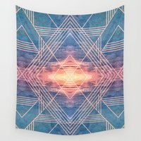 illuminati Wall Tapestries featuring Shining like Illuminati by Katrina Berlin Design