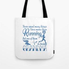 Running Grandma Tote Bag