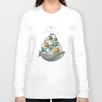 sketch Long Sleeve T-shirts featuring Whale | Petrol Grey by Seaside Spirit