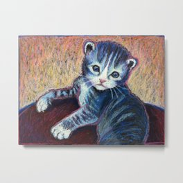 Button the Kitten Metal Print