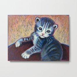 Button the Kitten Metal Print