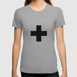 Swiss Cross white and black Swiss Design for minimalist home room wall art decor for apartment T-shirt