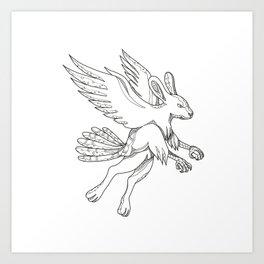 Skvader Flying Doodle Art Print