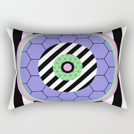 Bold Pastel Geometry Rectangular Pillow