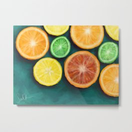 Slices on Slices on Slices of Citruses Metal Print