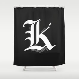 Letter K Shower Curtain