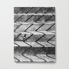 Shadows on the stairs Metal Print