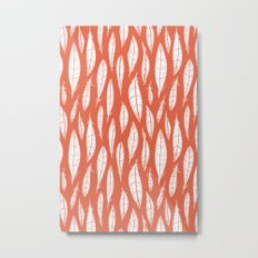 Quail Feathers (Poppy) Metal Print