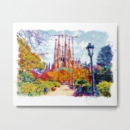 La Sagrada Familia - Park View Metal Print