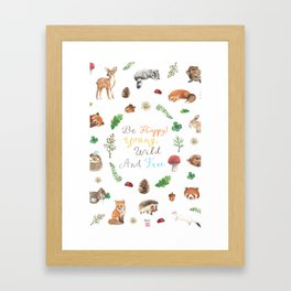 Be Happy, Young, Wild and Free Framed Art Print