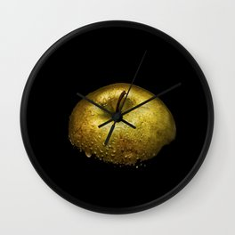 Golden Apple Wet Wall Clock