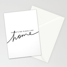 There's No Place Like Home - White Stationery Cards
