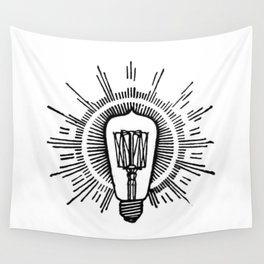 Lightbulb Wall Tapestry