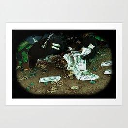Illusions of greed Art Print