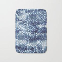 Indigo Batik Abstract Bath Mat