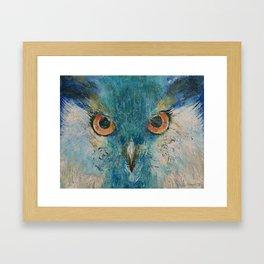 Turquoise Owl Framed Art Print