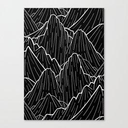 The dark mountain range Canvas Print