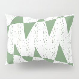 Abstract geometric pattern on white background Pillow Sham
