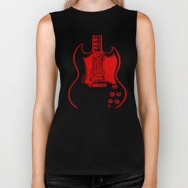 Electric Guitar Biker Tank