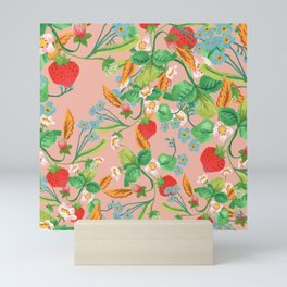 Strawberry Patch Mini Art Print